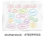 navigation pins set vector  | Shutterstock .eps vector #478399543