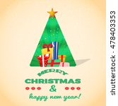 big pile of christmas gift... | Shutterstock .eps vector #478403353