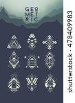 geometric hipster symbols set.... | Shutterstock .eps vector #478409983