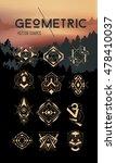 geometric hipster symbols set.... | Shutterstock .eps vector #478410037