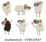 vector set of cartoon images of ... | Shutterstock .eps vector #478415467