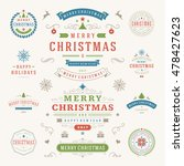christmas labels and badges... | Shutterstock .eps vector #478427623