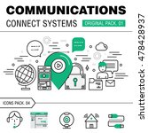 communication connect social... | Shutterstock .eps vector #478428937