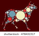 cattle shape vector design by... | Shutterstock .eps vector #478431517