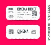 cinema ticket card element... | Shutterstock .eps vector #478432303