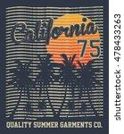 california summer paradise ... | Shutterstock .eps vector #478433263