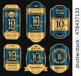 anniversary golden retro... | Shutterstock .eps vector #478437133