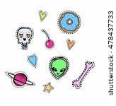 quirky trendy vector patches... | Shutterstock .eps vector #478437733