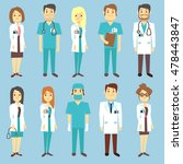doctors nurses medical staff... | Shutterstock .eps vector #478443847