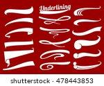hand lettering underlines... | Shutterstock .eps vector #478443853