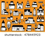 houses doodles | Shutterstock .eps vector #478445923