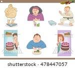 cartoon humorous illustration... | Shutterstock .eps vector #478447057