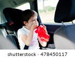 seven years old child vomiting... | Shutterstock . vector #478450117