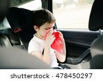 seven years old child vomiting... | Shutterstock . vector #478450297