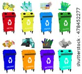 containers for recycling  waste ... | Shutterstock .eps vector #478452277