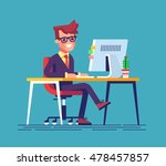 young handsome businessman is... | Shutterstock .eps vector #478457857