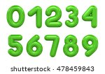 three dimensional number in... | Shutterstock . vector #478459843