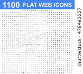 1100 icon set. vector concept... | Shutterstock .eps vector #478463227