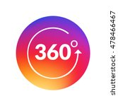 angle 360 degrees sign icon.... | Shutterstock .eps vector #478466467