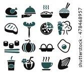 food icon set | Shutterstock .eps vector #478468957