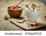 homemade yogurt with granola ... | Shutterstock . vector #478469533