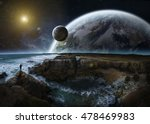 Distant Planet System View Fro...