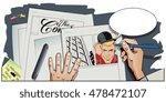 stock illustration. people in... | Shutterstock .eps vector #478472107