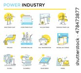 power industry icons  thin line ... | Shutterstock .eps vector #478473877
