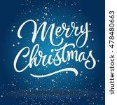 merry christmas lettering | Shutterstock .eps vector #478480663