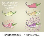 chilli peppers hotness levels... | Shutterstock .eps vector #478483963