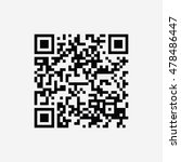 qr code icon vector isolated on ... | Shutterstock .eps vector #478486447