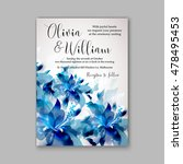 wedding invitation or card with ... | Shutterstock .eps vector #478495453