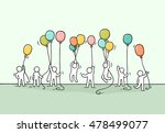 sketch of crowd little people.... | Shutterstock .eps vector #478499077