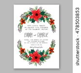 poinsettia wedding invitation... | Shutterstock .eps vector #478503853