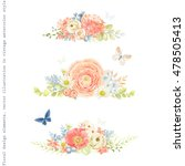 decorative floral horizontal... | Shutterstock .eps vector #478505413