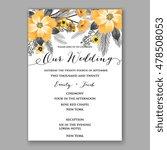 Poinsettia Wedding Invitation...