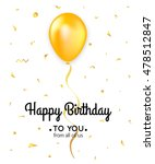 birthday card template with... | Shutterstock .eps vector #478512847
