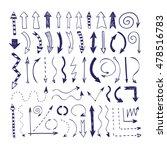set hand drawn arrows. doodle... | Shutterstock .eps vector #478516783