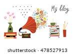 music blog banner with... | Shutterstock .eps vector #478527913