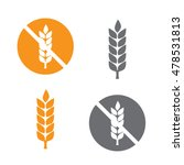 wheat yellow gluten free grain... | Shutterstock .eps vector #478531813