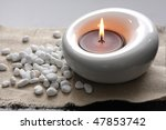 Candles And Massage Stones In ...