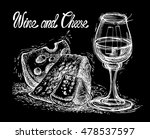 still life with cheese and wine.... | Shutterstock .eps vector #478537597