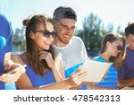 young people with gadgets... | Shutterstock . vector #478542313