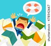 cartoon stressed businessman...   Shutterstock .eps vector #478542667