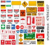 random signs collection... | Shutterstock .eps vector #478561357