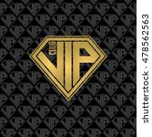 vip diamond logo. golden color. ... | Shutterstock .eps vector #478562563