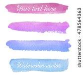 set of watercolor backgrounds.... | Shutterstock .eps vector #478564363