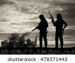 terrorism and conflict. skulls