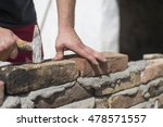 man laying concrete block and... | Shutterstock . vector #478571557