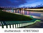 moscow  russia. evening... | Shutterstock . vector #478573063